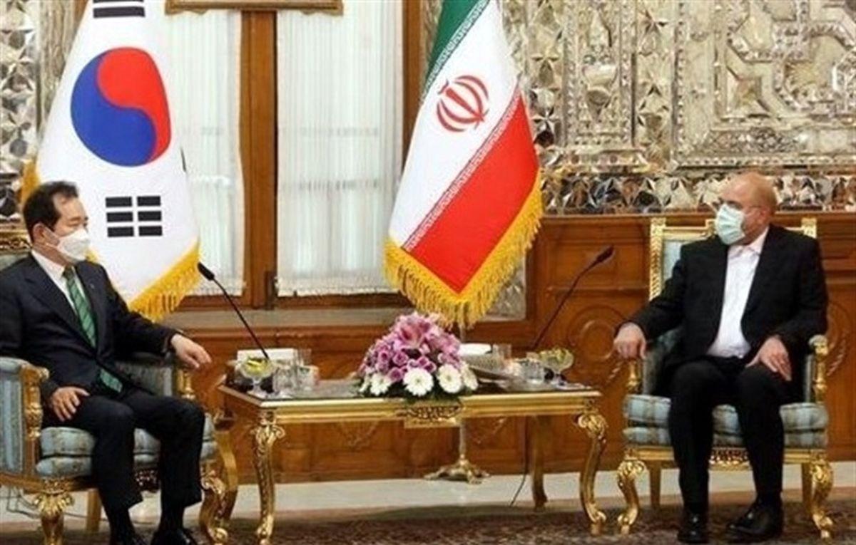 انتقادات شدید قالیباف از کرهجنوبی در دیدار نخست وزیر این کشور: جایگاهی در مناسبات اقتصادی ایران ندارید
