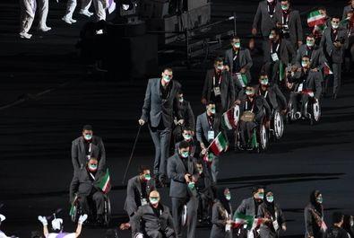 پرچمداری «زهرا نعمتی» و «نورمحمد آرخی» در مراسم افتتاحیه پارالمپیک توکیو