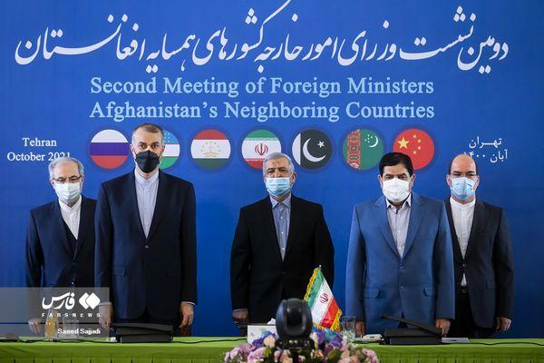 تصاویر نشست وزرای خارجه همسایگان افغانستان