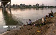 تصاویر فاجعه در رودخانه کارون