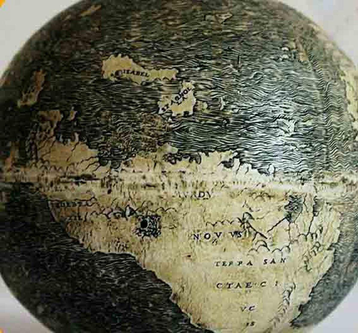 قدیمیترین کرهجغرافیایی ساخته بشر روی تخم شتر مرغ