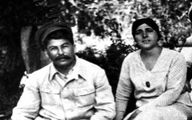 تصویری ناب از استالین و همسرش