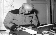 عکس دیده نشده از  استادعلی اکبر دهخدا در حال نوشتن لغتنامه