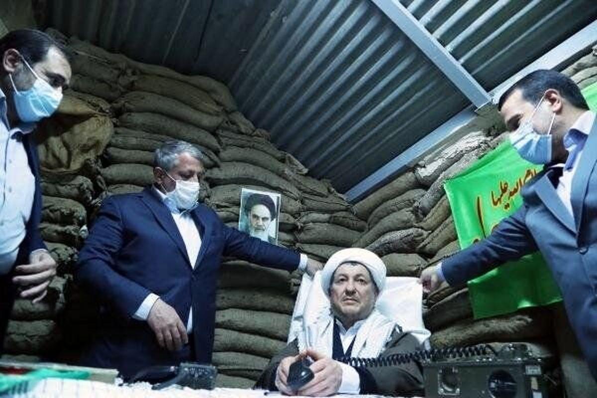 تندیس آیت الله هاشمی رفسنجانی در زمان دفاع مقدس|عکس