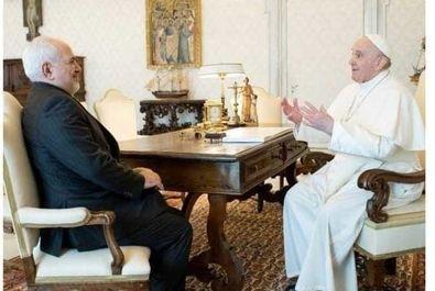 دیدار ظریف با پاپ فرانسیس