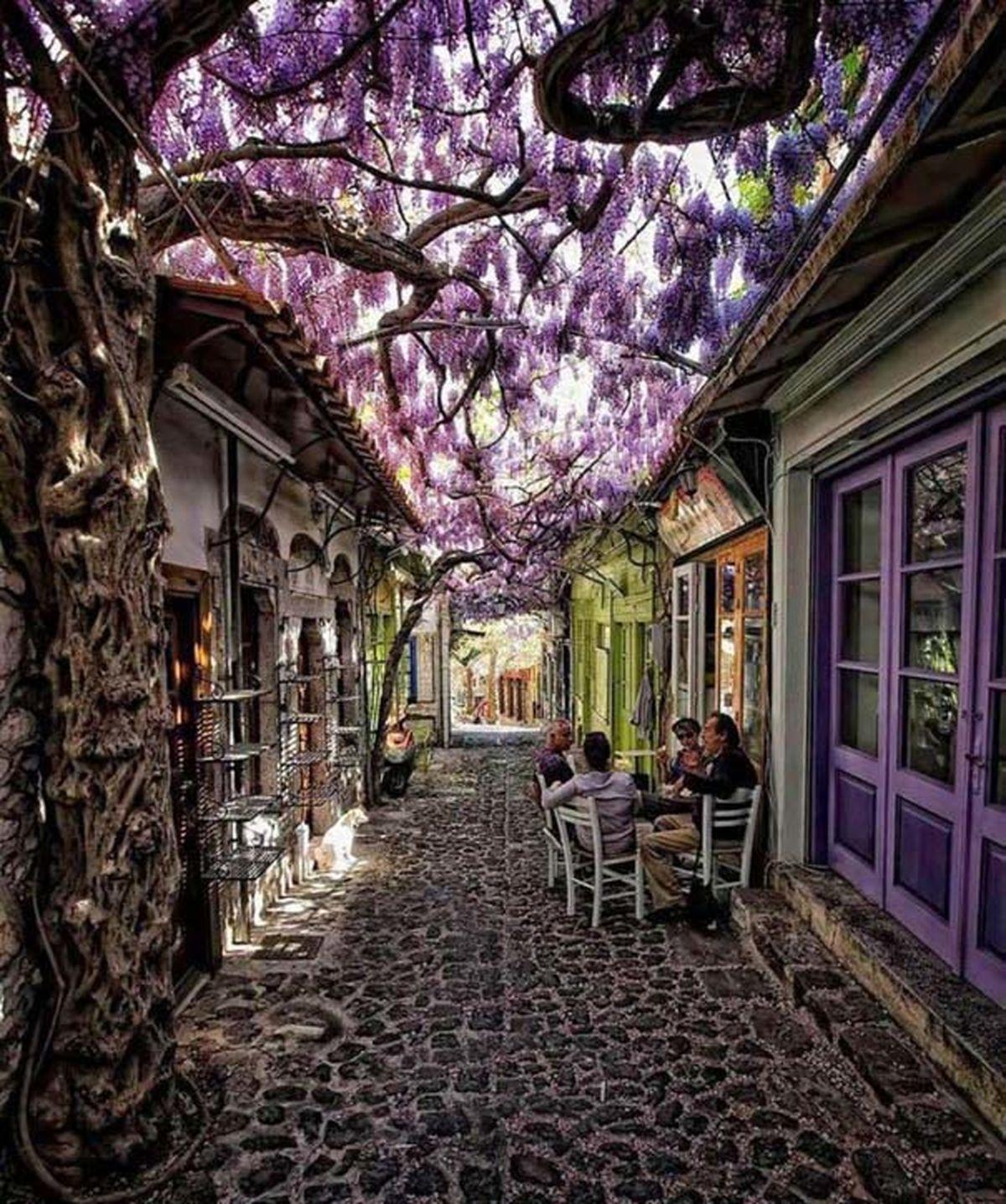 زیباترین کوچه جهان در یونان