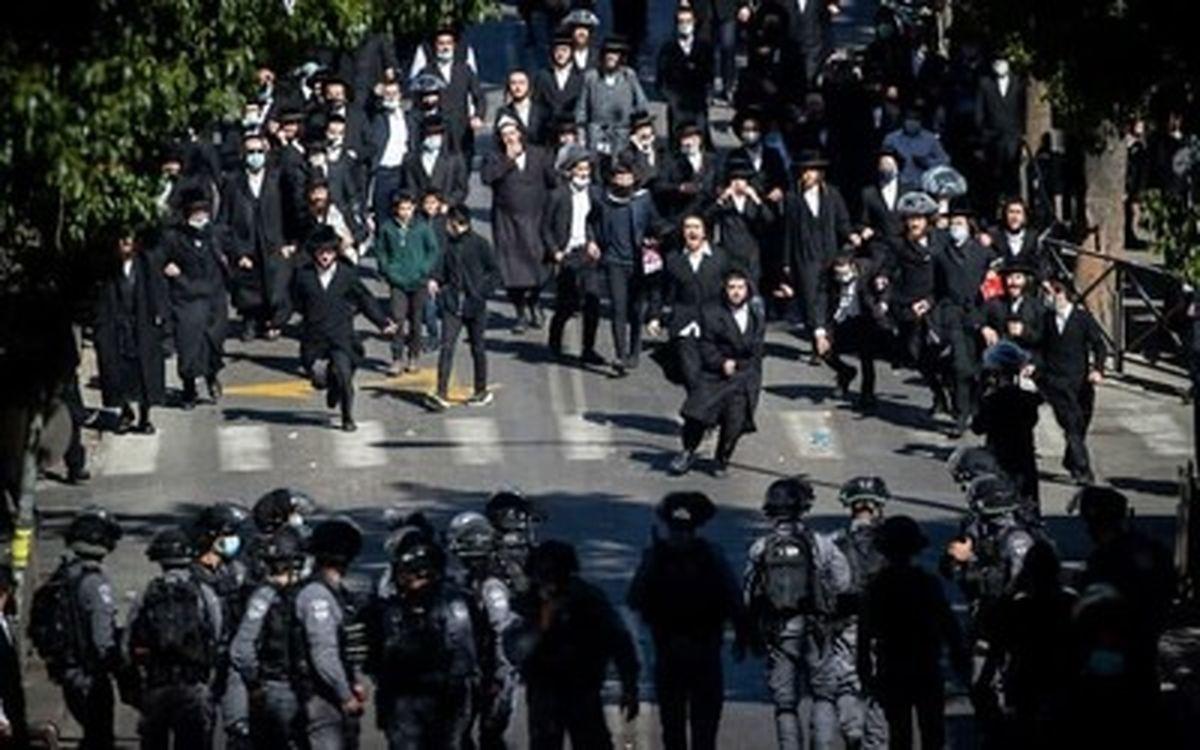 درگیری شدید پلیس اسرائیل با یهودیان تندرو مذهبی+عکسها