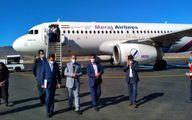"""نخستین پرواز ایرباس ۳۲۰شرکت هواپیمایی""""معراج""""در فرودگاه یاسوج نشست"""