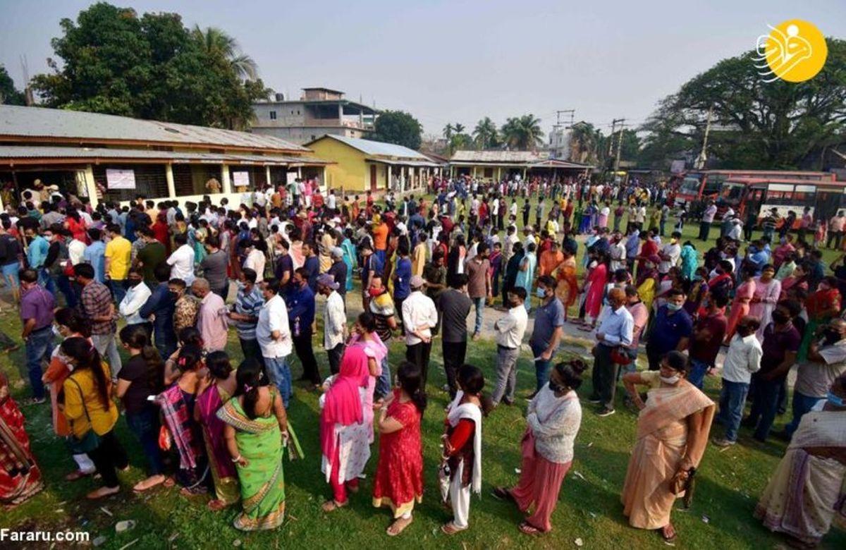 صف انتظار رای انتخابات در هند+تصاویر جالب