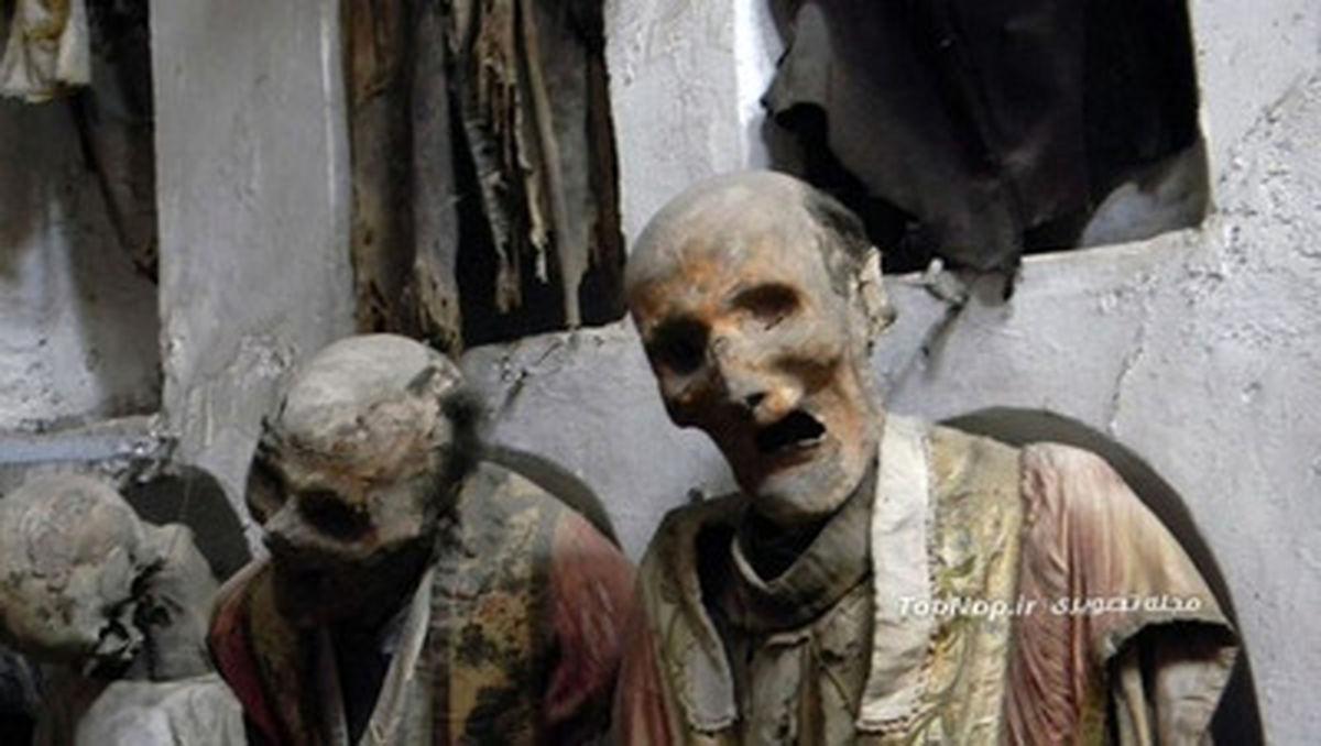 تصاویر موزه اجساد مومیایی در ایتالیا (18+)