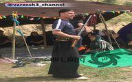 تیپ جالب عبدالله ویسی در مراسم سیزده به در/عکس