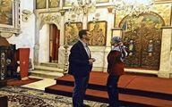 بشار اسد و همسرش در کلیسای طرطوس/ تصاویر