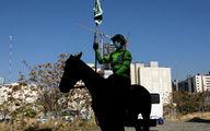 رژه اسب سواران ناجا در خیابان ولی عصر