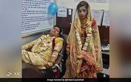اقدام تحسین برانگیز عروس و داماد در روز عروسی