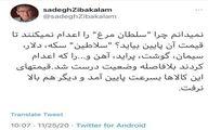 توئیت تند زیباکلام: «سلطان مرغ» را اعدام کنید + توئیت