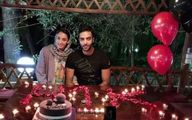 تصویری از جشن تولد دونفره کیمیا علیزاده و همسرش