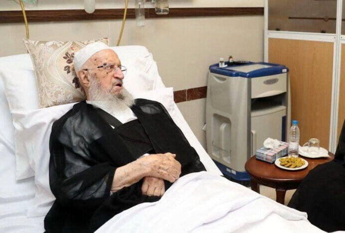 آیت الله مکارم شیرازی در بیمارستان بستری شد+عکس