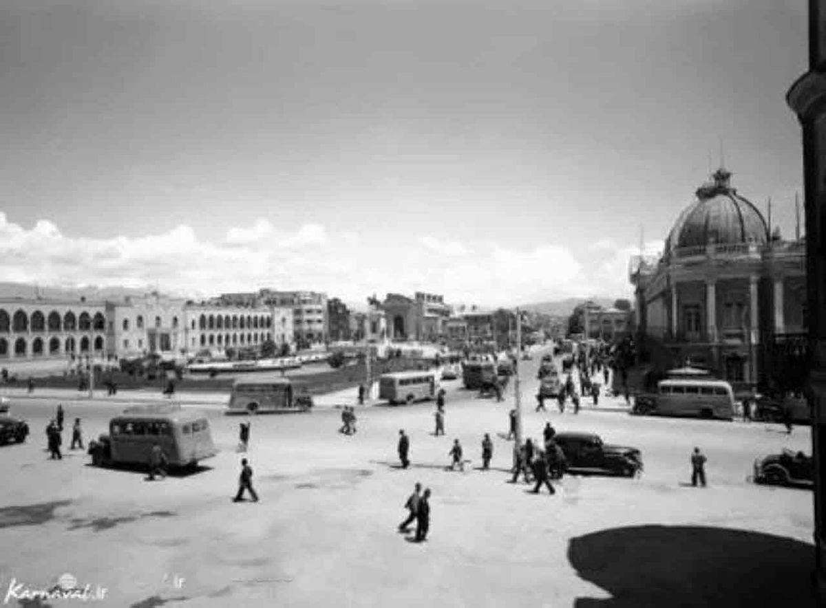 تصویری ناب از مهمترین میدان پایتخت ایران در سال 1325