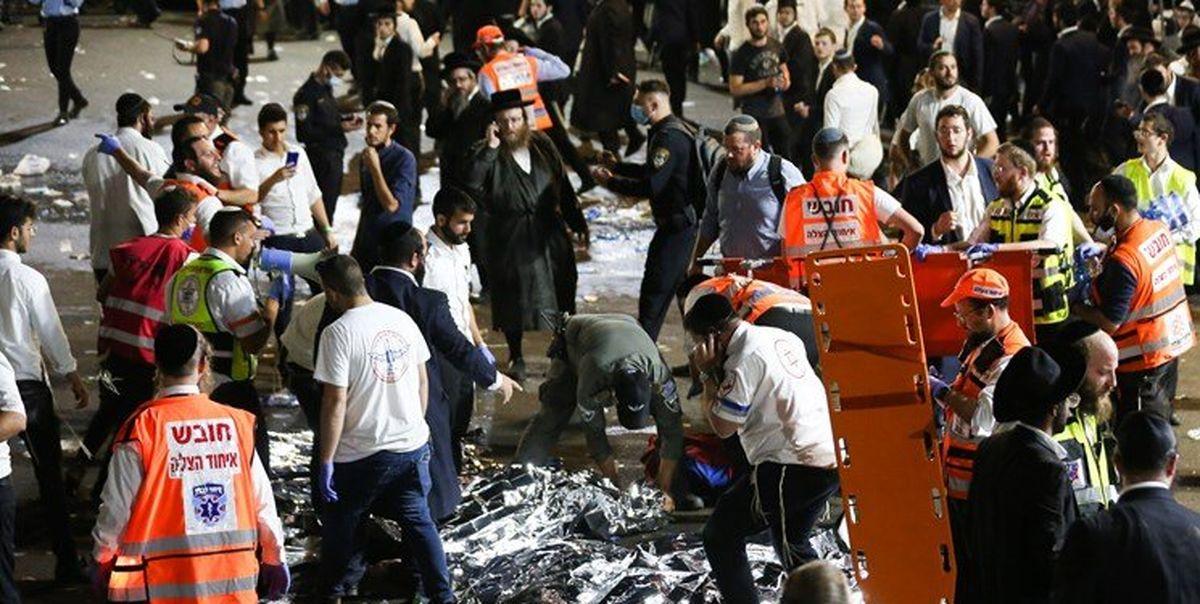 فیلم جمعیتی که باعث ریزش پل  و مرگ در اسرائیل شدند