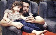 دلبری دختر ناز محسن کیایی برای پدرش   عکس قاب گوشی بامزه محسن کیایی