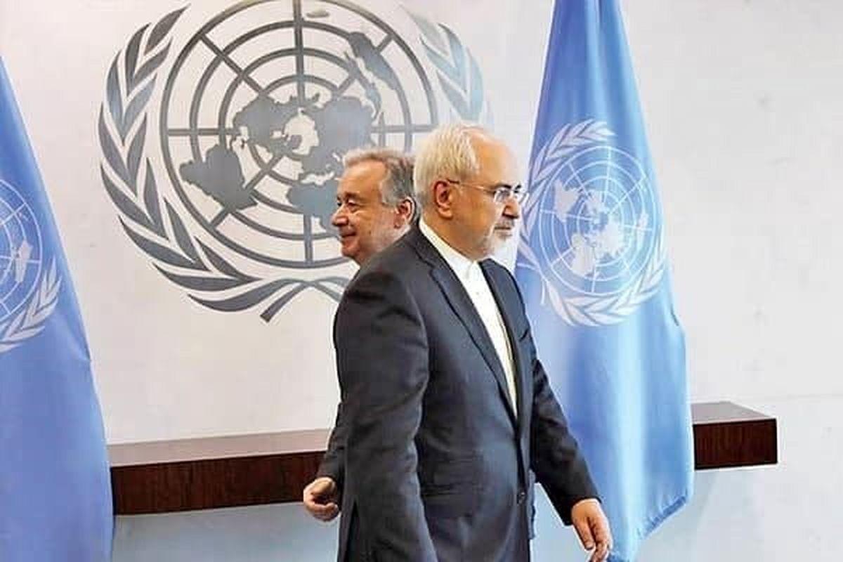 اعتراض ایران به تعلیق حق رای در سازمانملل در نامه ظریف به گوترش