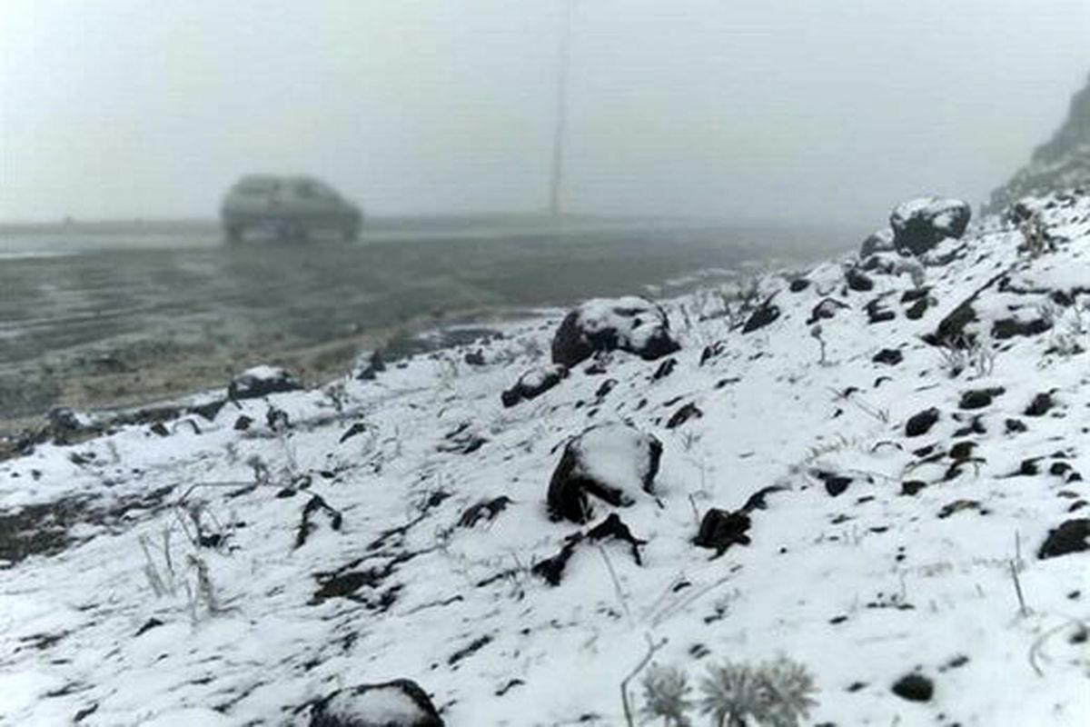 اولین برف پاییزی شمال غرب ایران را سفید پوش کرد