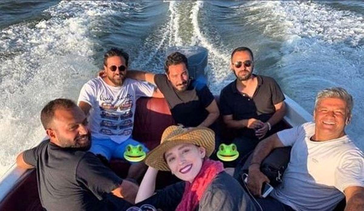 عاشقانه های نوید محمدزاده و فرشته حسینی بعد از ازدواج + تصاویر دیده نشده