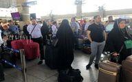 اعتراض زائران اربعین به تاخیر ۶ ساعته پرواز تهران - نجف