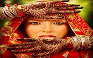 عکس خاص مرجانه گلچین با گریم هندی