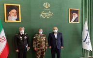 فرمانده کل ارتش با رئیس مجلس شورای اسلامی دیدار کرد