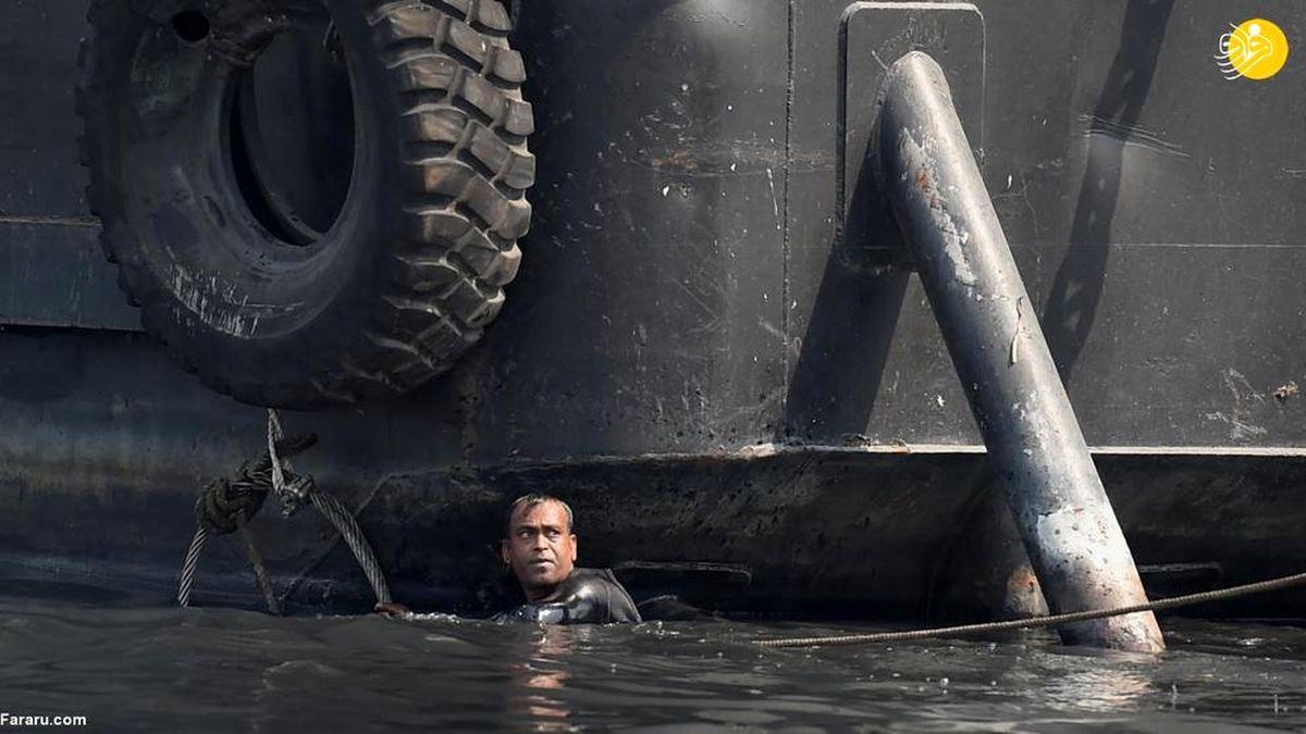 غرق شدن مرگبار یک کشتی در بنگلادش+عکسها