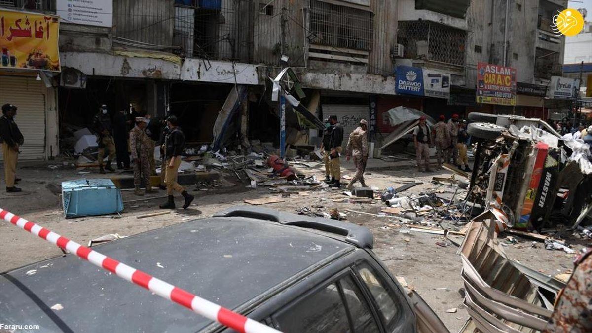 تلفات تلخ انفجار در کراچی +عکسها