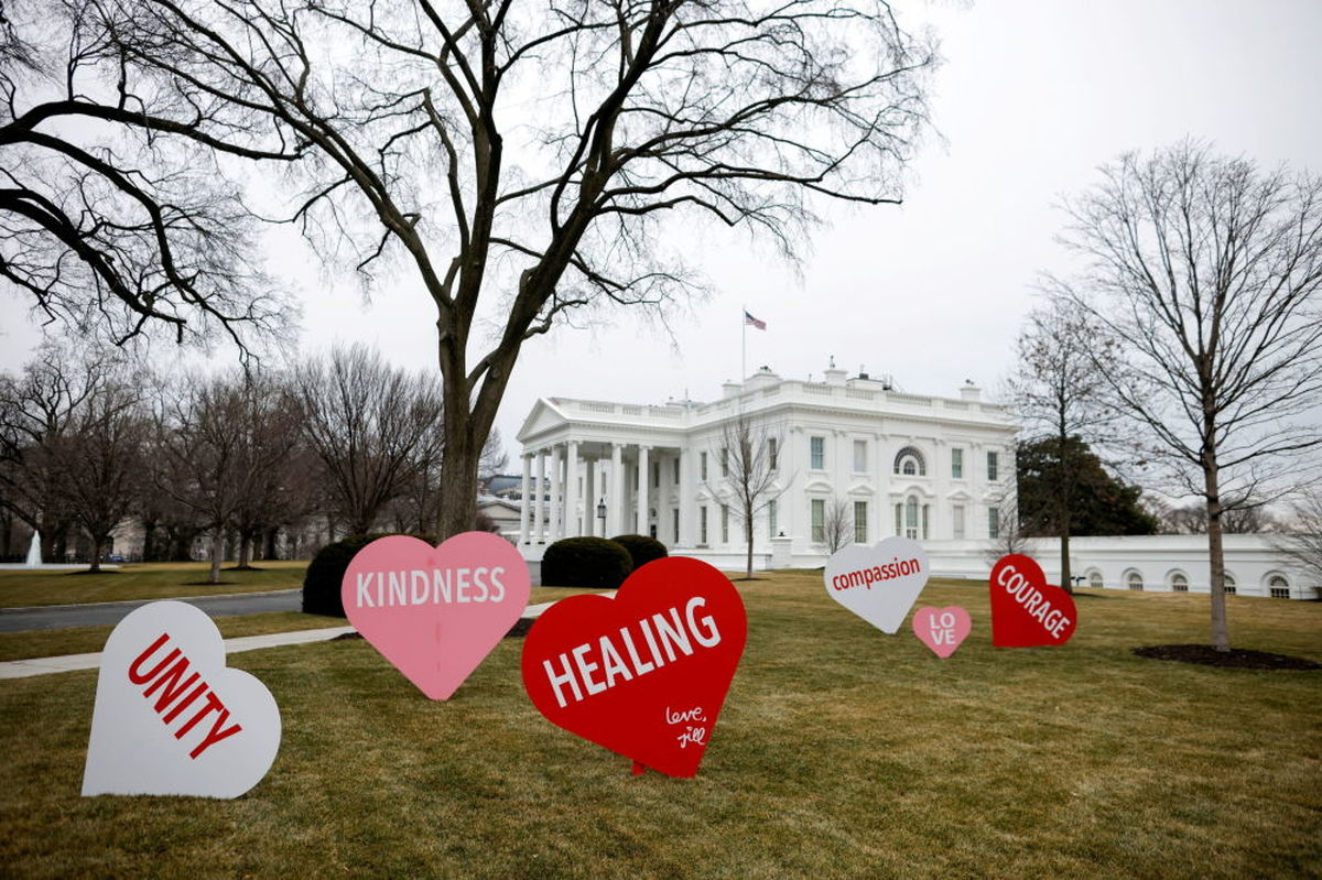 تزئینات روز ولنتاین در کاخ سفید+عکس