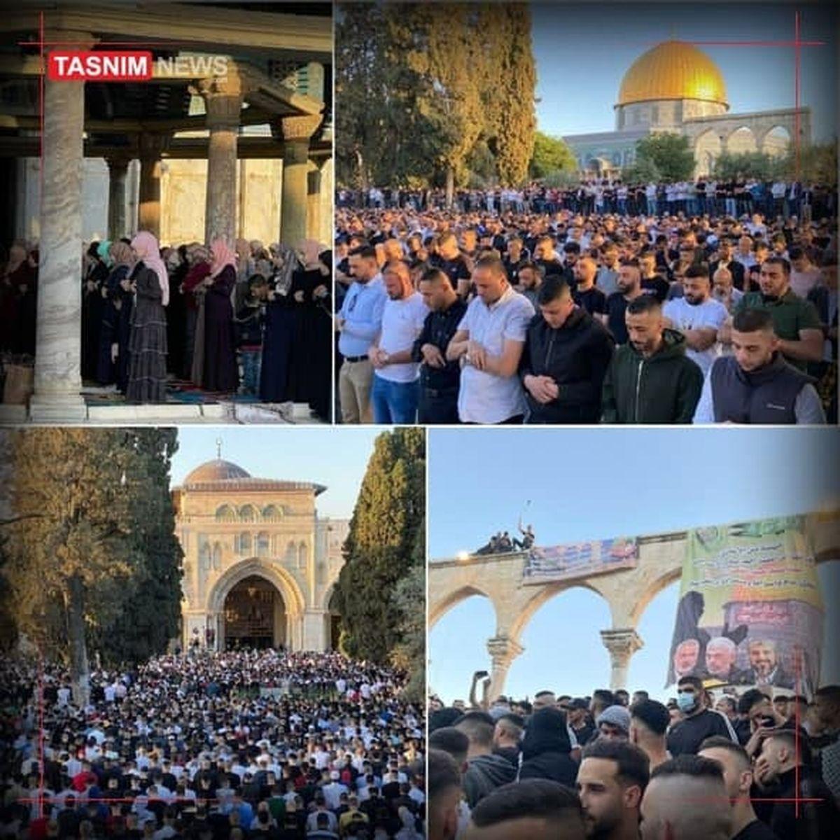 عکس:اقامه نماز عید فطر در مسجدالاقصی