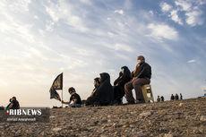 تصاویر احیای عزاداری سنتی در بیابان سمنان